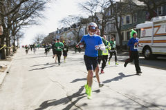 Joggers, South Boston, St. Patrick's Day Road Race, South Boston, Massachusetts, USA Stock Images