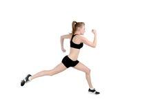 jogging γυναίκα σχεδιαγράμματ&omic στοκ εικόνες