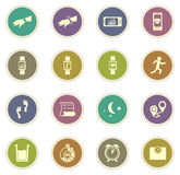 Jogging και workout εικονίδια Στοκ Φωτογραφίες