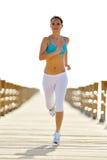 jogging νεολαίες γυναικών παραλιών Στοκ Εικόνες