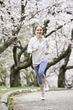jogging πάρκο κοριτσιών Στοκ εικόνες με δικαίωμα ελεύθερης χρήσης