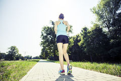 Jogging το πρωί Στοκ Εικόνα