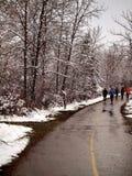 Jogging το χειμώνα Στοκ φωτογραφίες με δικαίωμα ελεύθερης χρήσης
