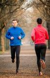 Jogging в парке Стоковые Изображения RF