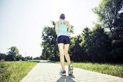 Jogging в утре Стоковое Изображение