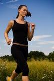 Jogging девушка 2 Стоковая Фотография