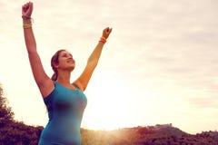 Jogging девушки Стоковые Изображения