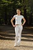 jogging женщина парка готовая Стоковое Фото