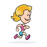 Jogging женщины бесплатная иллюстрация