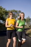jogging женщины laughingf стоковые изображения