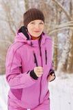 jogging зима Стоковые Изображения RF