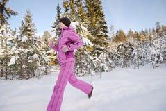 jogging зима Стоковая Фотография