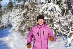 jogging зима Стоковая Фотография RF