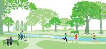 Jogging и задействовать в парке Стоковая Фотография RF