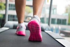 Jogging на третбане Стоковая Фотография