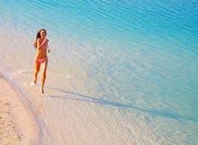 jogging пляжа стоковая фотография rf