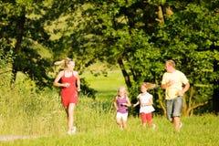 jogging семьи Стоковое Изображение RF