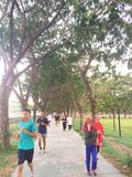 Jogging след Стоковые Изображения RF
