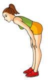 jogging 03 девушок иллюстрация вектора