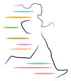 Jogging. Isolated brush stroke illustration Stock Photos