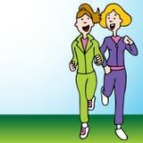 jogging 2 женщины Стоковые Фото