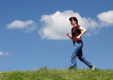 Jogging Royalty Free Stock Photography