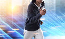 Jogging African American man Royalty Free Stock Photography