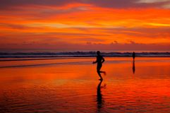 Jogging in Bali Royalty Free Stock Images