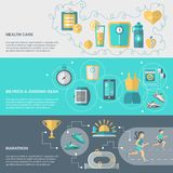 Jogging Banner Set Royalty Free Stock Image