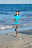 Jogging at beach Royalty Free Stock Photo
