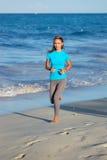 Jogging at beach Royalty Free Stock Photo