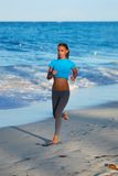 Jogging at beach Royalty Free Stock Images