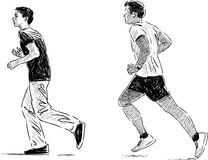 Jogging boys Stock Images