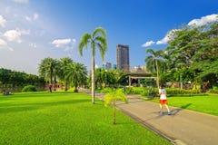 Jogging in Chatuchak Park stock photos