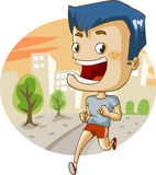 Jogging in the city Royalty Free Stock Images