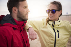 Jogging by couple Stock Photography