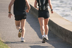 Jogging Couple Training Run Stock Image