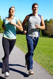 Jogging couple. Stock Images