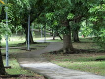 Jogging and Cycling Path. In Punggol Park. The park is popular with the residents living in the estates near it Stock Photo