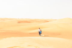 Jogging In The Desert Royalty Free Stock Photography