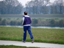 Jogging Down The River Royalty Free Stock Photos