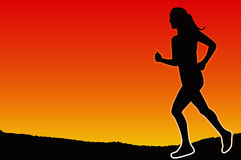 Jogging in the evening Royalty Free Stock Image