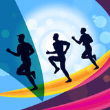 Jogging Exercise Represents Get Fit And Jogger Stock Images