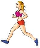 Jogging girl 02 Stock Photo
