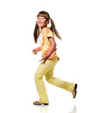 Jogging girl Stock Images