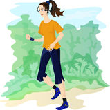 Jogging girl Stock Image