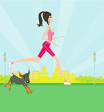 Jogging girl Royalty Free Stock Image