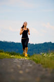 Jogging girl royalty free stock photography