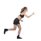 Jogging girl of Asian stock photos