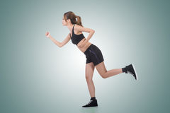 Jogging girl of Asian Stock Photography